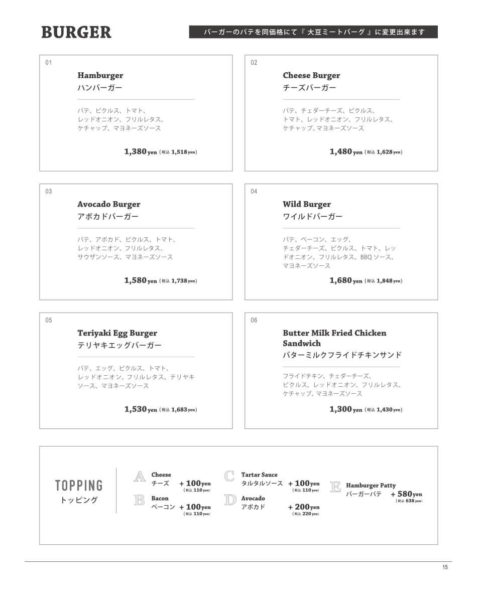 EGGS BENEDICT / SPECIAL PASTA / PIZZA 商品説明